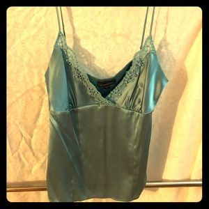 BeBe satin, lace, pearl camisole -size M